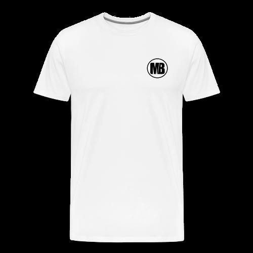MB logo White - Men's Premium T-Shirt