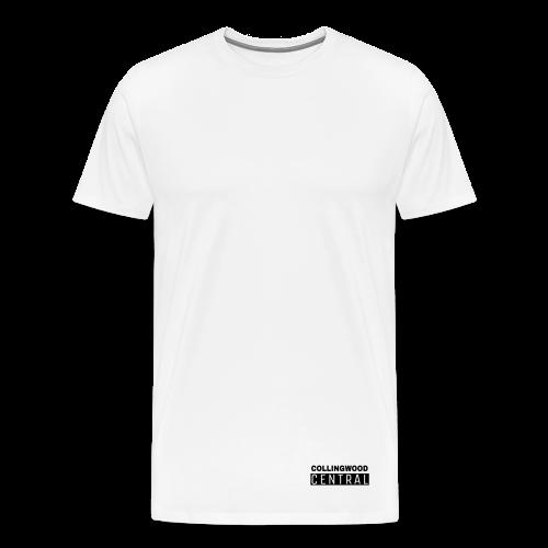 BLK Collingwood Central Logo - Men's Premium T-Shirt