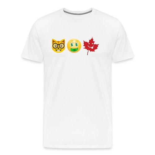 Pussy Money Weed Emoticon T-Shirt - Men's Premium T-Shirt