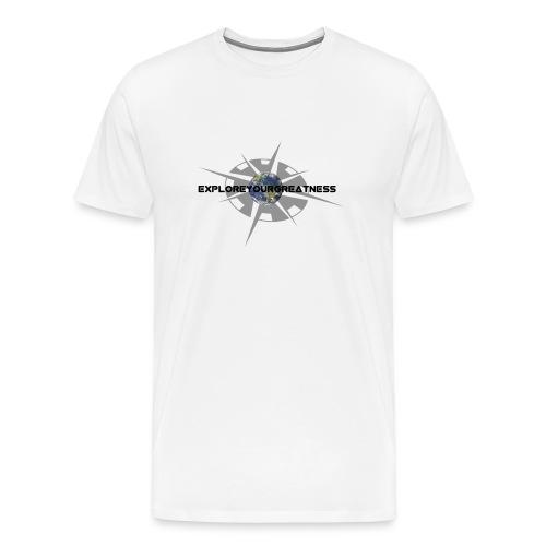 ExploreYourGreatness black logo - Men's Premium T-Shirt