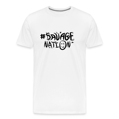SAVAGE NATION classic black - Men's Premium T-Shirt