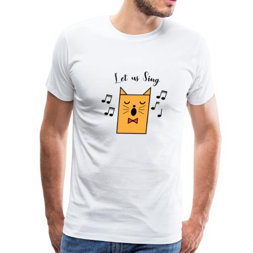 CAT sings - Let us sind together - Men's Premium T-Shirt
