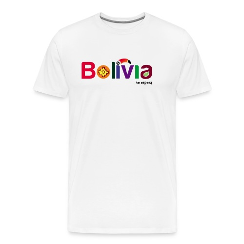 Bolivia te espera - Men's Premium T-Shirt