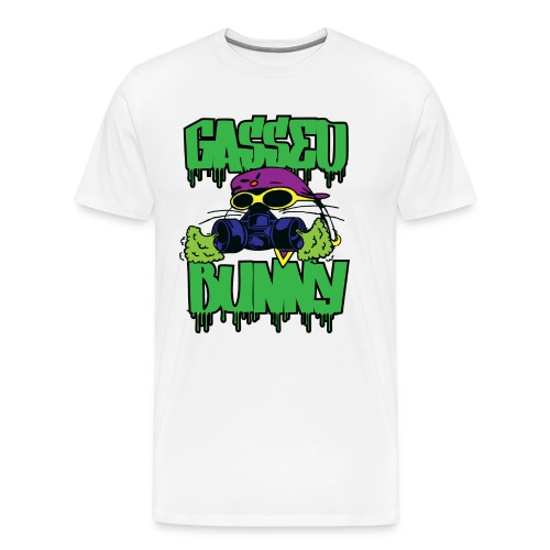 GASSED BUNNY ARTWORK - Men's Premium T-Shirt