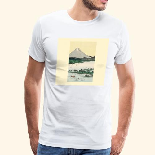 Mount Fuji from Suruga Bay Japan - Men's Premium T-Shirt