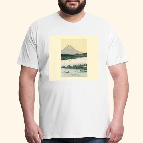 Mount Fuji from Suruga Bay Japan - Men's Premium T-Shirt