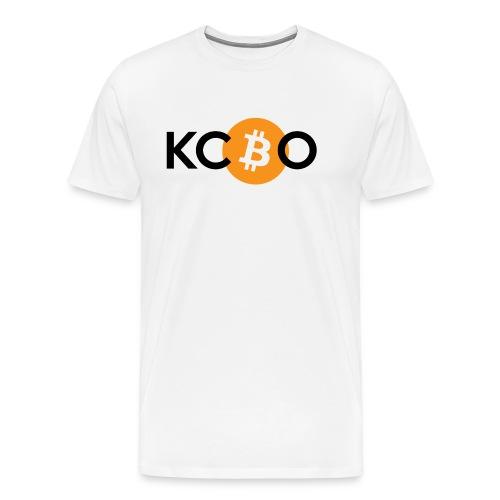 kcbo logo light - Men's Premium T-Shirt