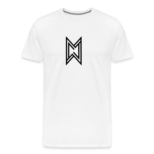 Black Logo White T-Shirt - Men's Premium T-Shirt