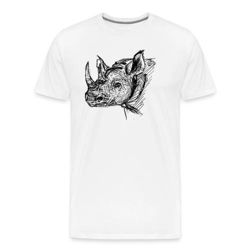 Black Rhino - Men's Premium T-Shirt