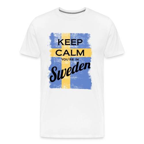 Keep Calm In Sweden - Men's Premium T-Shirt