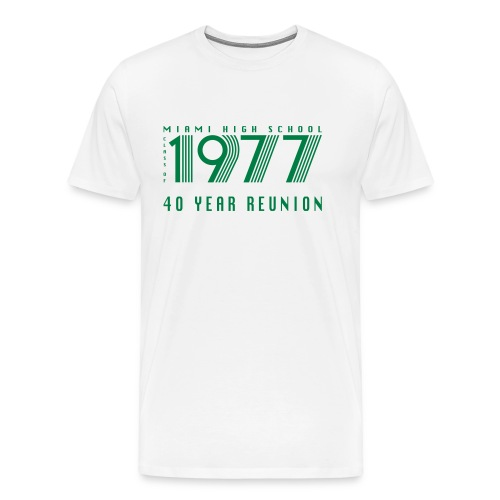 Miami 77 Green Logo - Men's Premium T-Shirt