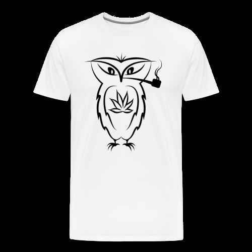 Cannabis Black Owl SS - Men's Premium T-Shirt