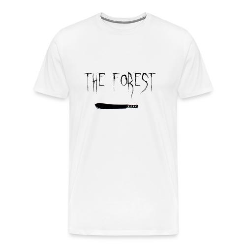 the forest ,bowie knife - Men's Premium T-Shirt