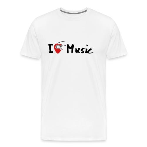 I Love Music I love music guitar guitarist - Men's Premium T-Shirt