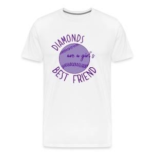 Diamonds Are A Girls Best Friend - Men's Premium T-Shirt
