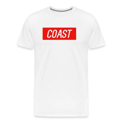 Coast (Red Box Design) - Men's Premium T-Shirt