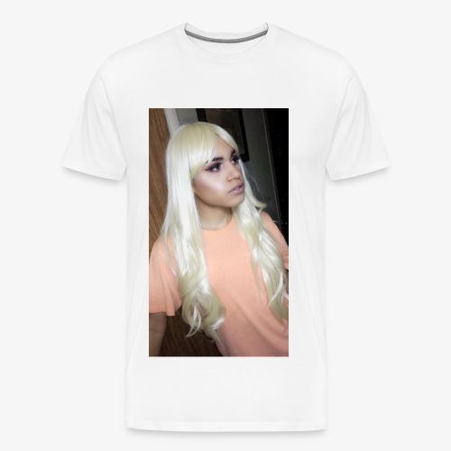 KIA Blonde Hair Jumbo print - Men's Premium T-Shirt