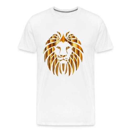 Gold Lion Design - Men's Premium T-Shirt