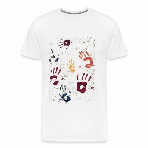 Hands paint - Men's Premium T-Shirt