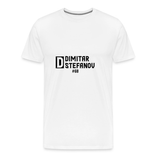 Dimitar Stefanov #68 Logo Design - Men's Premium T-Shirt