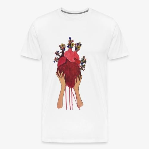 open your heart - Men's Premium T-Shirt