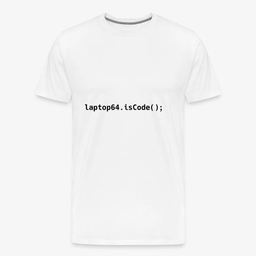 Laptop64 isCode - Men's Premium T-Shirt