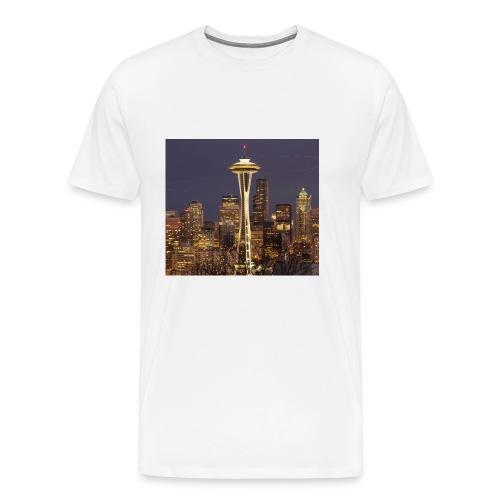 Seattle buildings - Men's Premium T-Shirt
