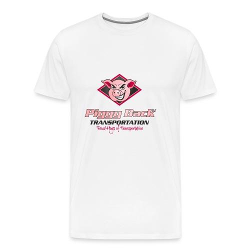 PiggyBack Transportation Logo - Men's Premium T-Shirt