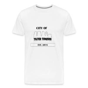 FORTNITE CITY OF TILTED TOWERS - Men's Premium T-Shirt