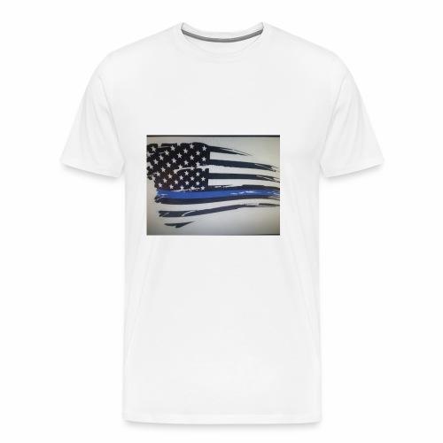 Back the Blue Flag Design - Men's Premium T-Shirt