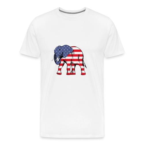 Patriotic Elephant - Men's Premium T-Shirt