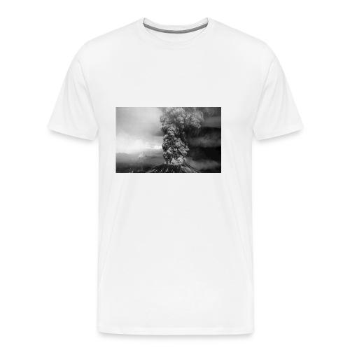 volcano smoke - Men's Premium T-Shirt