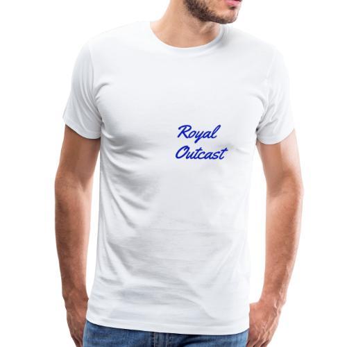 Navy blue Royal Outcast with white logo - Men's Premium T-Shirt