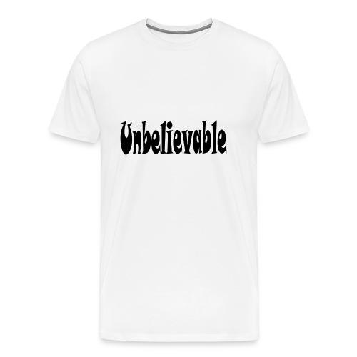 T-SHIRT (WHITE) - Men's Premium T-Shirt