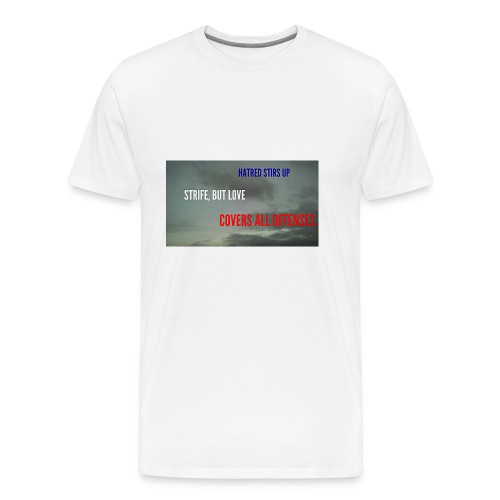 Proverbs 10.12 - Men's Premium T-Shirt