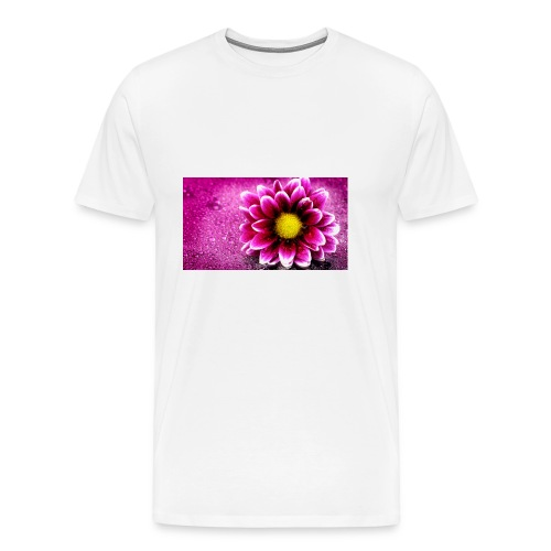 pink flower 4k 3840x2 - Men's Premium T-Shirt