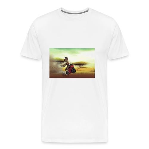 Chaka Zulu en roue arrière!! - Men's Premium T-Shirt