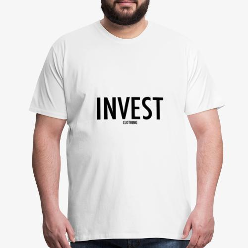 invest clothing black text - Men's Premium T-Shirt
