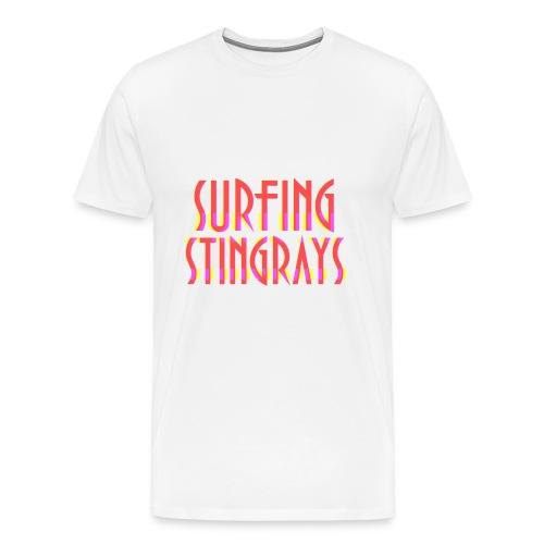 Surfing stingrays logo - Men's Premium T-Shirt