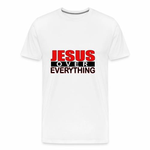 jesus over everything logo6 - Men's Premium T-Shirt