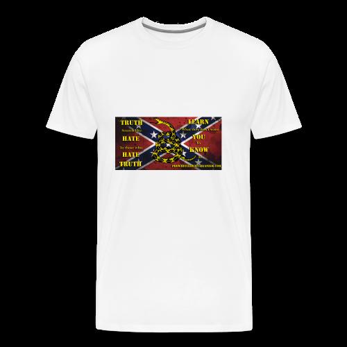 Pro-White Libertarianism Truth Banner - Men's Premium T-Shirt