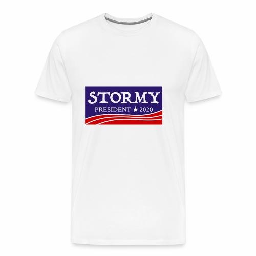 stormy for president 2020 - Men's Premium T-Shirt