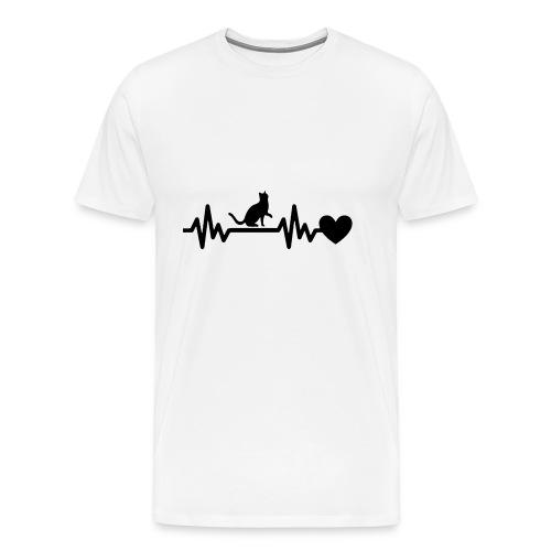 Cat Heart - Men's Premium T-Shirt