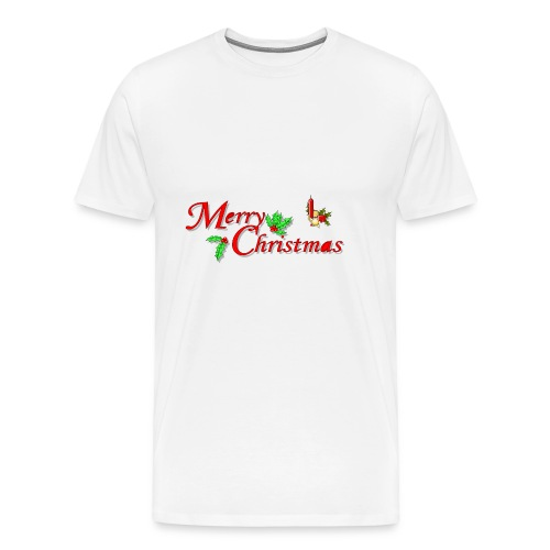 Merry Christmas Happy Holidays Season shirt bells - Men's Premium T-Shirt
