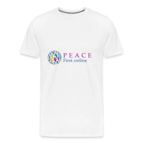 LogoPeaceFirst - Men's Premium T-Shirt