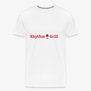 Rhythm Grill word logo - Men's Premium T-Shirt