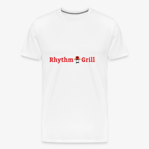 Rhythm Grill word logo - Men's Premium T-Shirt