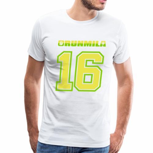 Orunmila number 16 - Orula - Men's Premium T-Shirt