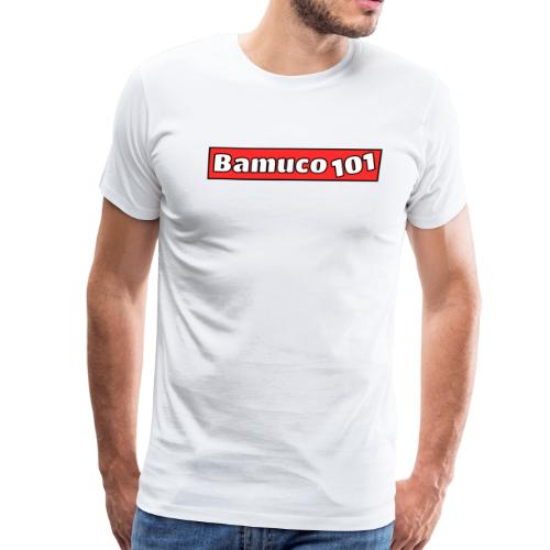 Bamuco101 Logo WhiteOnRed - Men's Premium T-Shirt