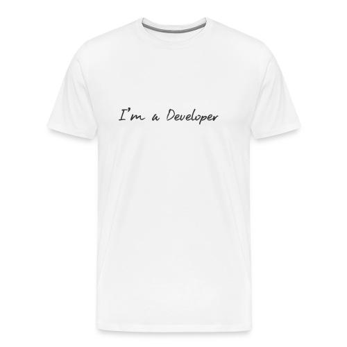 i am a developer - Men's Premium T-Shirt